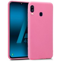 Funda Silicona Samsung A405 Galaxy A40 (Rosa)